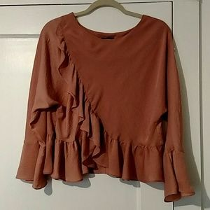 Nordstrom Rose/Light Mauve Blouse Sz 6-8